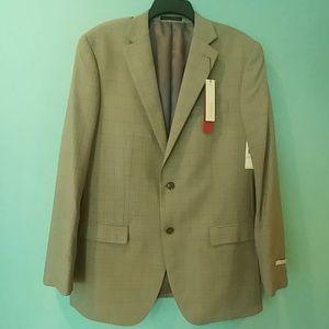 Perry Ellis Portfolio lght Grey fine plain suit 4L